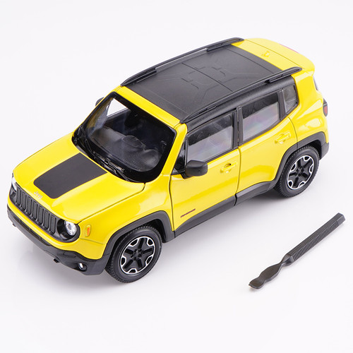 1/24 Welly FX Jeep Renegade (Yellow) Diecast Car Model