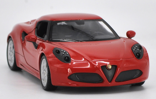 1/24 Welly FX Alfa Romeo 4C Hardtop Coupe (Red) Diecast Car Model