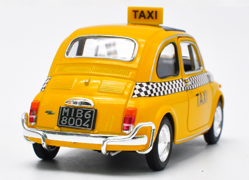 1/24 Welly FX Fiat Nuova 500 Taxi Diecast Car Model