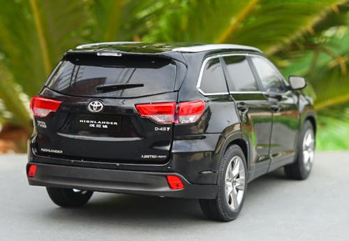 1/18 Dealer Edition 2018 Toyota Highlander (Black) Diecast Car Model