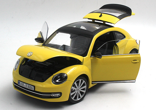 1/18 Welly FX Volkswagen VW Beetle (Yellow) Diecast Car Model