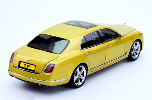 1/18 Almost Real Almostreal Bentley Mulsanne Speed (Yellow) Diecast Car Model