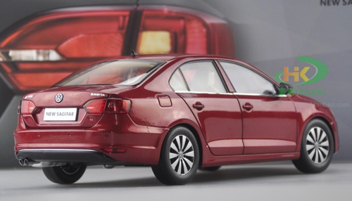 1/18 Dealer Edition Volkswagen VW Jetta / Sagitar (Red) 6th Generation (A6, Type 5C6; 2011–2018) Diecast Car Model