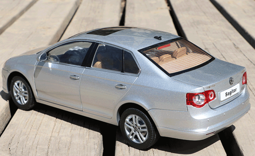 1/18 Dealer Edition Volkswagen VW Jetta / Sagitar (Silver) 5th Generation (A5, Type 1K5; 2006–2011) Diecast Car Model