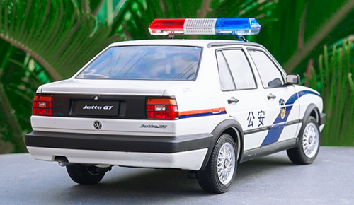1/18 Dealer Edition Volkswagen VW Jetta GT 2nd Generation (A2, Typ 20E/1G; 1984–1992) Police Car Diecast Car Model