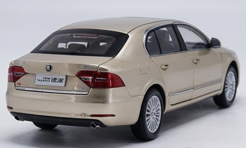 1/18 Dealer Edition Skoda New Superb (Golden Champagne) Diecast Car Model