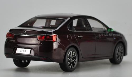 1/18 Dealer Edition 2016 Citroen C4 Sedan (Wine Red) Diecast Car Model