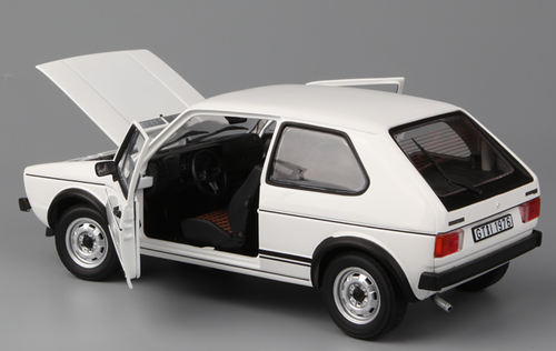 1/18 Norev 1976 Volkswagen VW Golf GTI 1st Generation (MK1/A1, Typ 17; 1974–1983) (White) Diecast Car Model