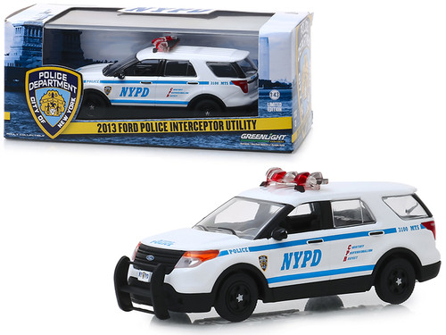 1:43 Greenlight Ford Police NYPD 1949 black//white//green