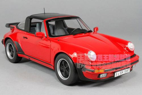 1/18 Norev Porsche 911 Turbo Targa (Red) Diecast Car Model