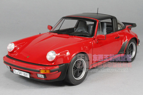 1/18 Norev 1987 Porsche 911 Turbo Targa (Red) Diecast Car Model