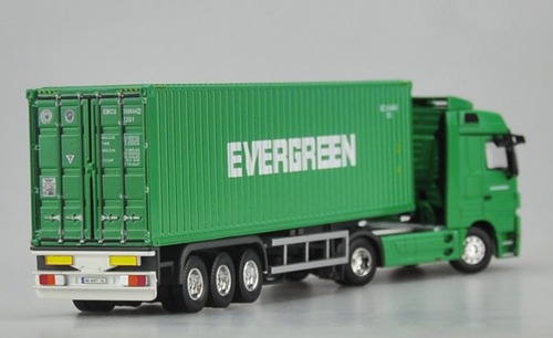 1/50 Dealer Edition Mercedes-Benz Mercedes Evergreen Semi Truck Diecast Car Model