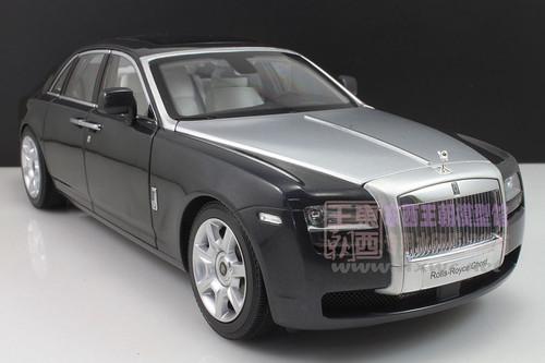 1/18 Kyosho Rolls-Royce Ghost (Black/Silver) Diecast Car Model