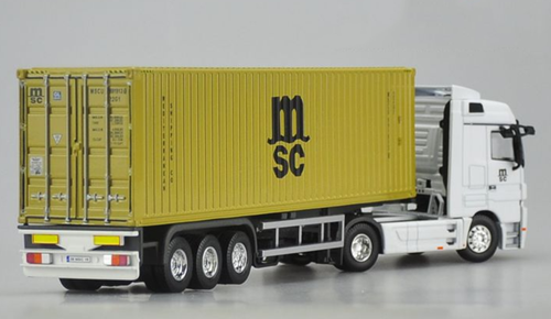 1/50 Dealer Edition Mercedes-Benz Mercedes MSC Semi Truck Diecast Car Model