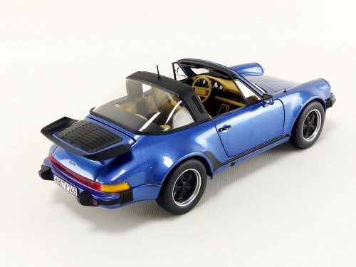 1/18 Norev 1987 Porsche 911 Turbo Targa (Blue) Diecast Car Model