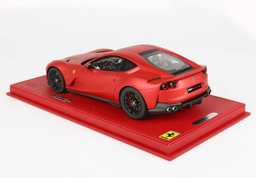 1/18 BBR Ferrari 812 Superfast Rosso F1 Opaco (Red w/ Black Wheels) Resin Car Model Limited