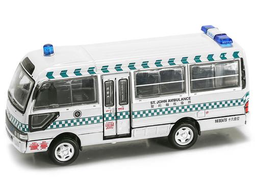Tiny City 170 1990's Toyota Coaster Hong Kong St. John Ambulance Diecast Car Model