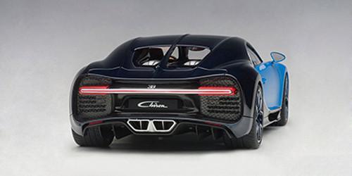 1/18 AUTOart BUGATTI CHIRON 2017 (FRENCH RACING BLUE / ATLANTIC BLUE) Diecast Car Model 70993