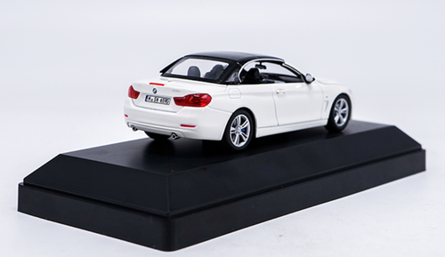 1/43 Dealer Edition BMW F33 4 Series Convertible Cabriolet (White) Diecast Car Model