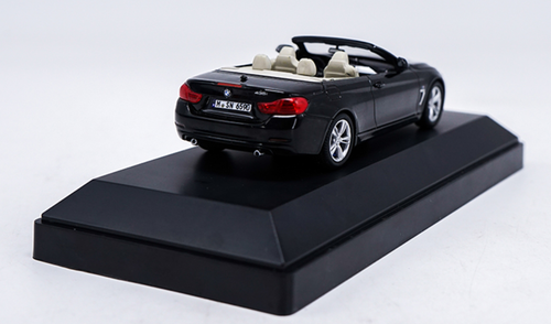 1/43 Dealer Edition BMW F33 4 Series Convertible Cabriolet (Black) Diecast Car Model