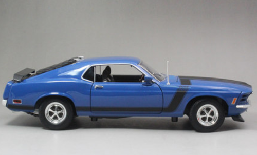 1/18 Welly 1970 Ford Mustang Boss 302 (Blue) Diecast Car Model