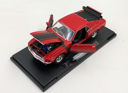 1/18 Welly 1970 Ford Mustang Boss 302 (Red) Diecast Car Model