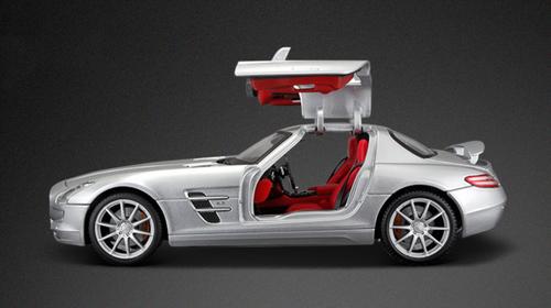 1/18 Maisto Mercedes-Benz Mercedes SLS AMG (Silver) Diecast Car Model