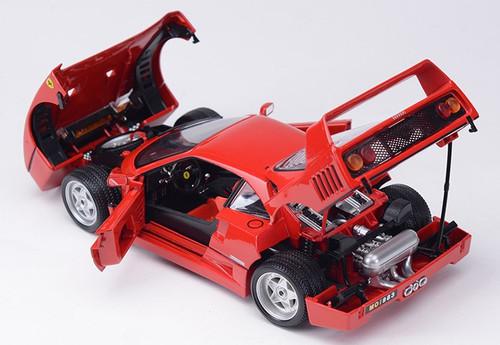 1/18 BBurago 1987 Ferrari F40 (Red) Diecast Car Model