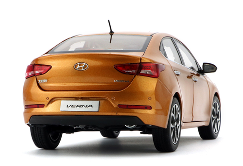 1/18 Dealer Edition Hyundai Verna (Orange) Diecast Car Model