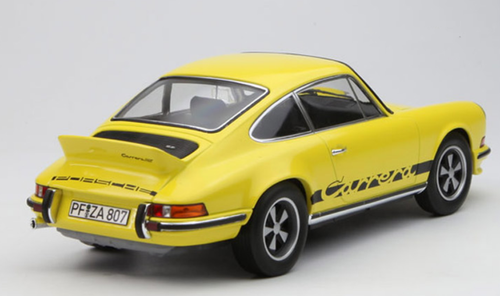 1/18 Norev 1973 Porsche 911 Carrera RS Touring (Yellow) Diecast Car Model
