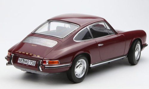 1/18 Norev 1969 Porsche 911 T (Dark Red) Diecast Car Model