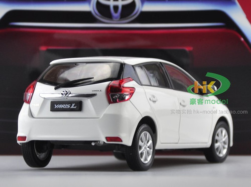 1/18 Dealer Edition Toyota Yaris L / Vios (White) Diecast Car Model