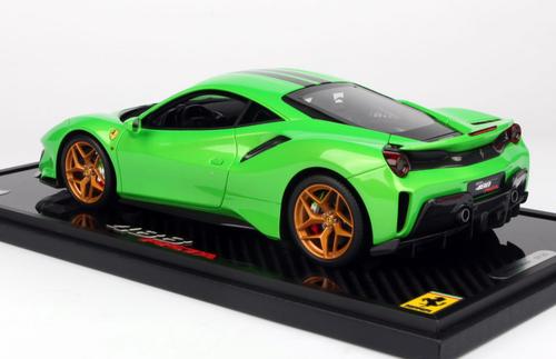 1/18 BBR Ferrari 488 Pista Green Resin Car Model