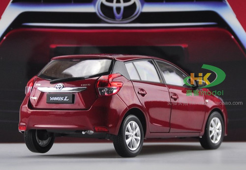 1/18 Dealer Edition Toyota Yaris L / Vios (Red) Diecast Car Model