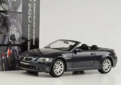 1/18 Kyosho BMW 6 Series Cabriolet 2nd Generation (E63/E64; 2003–2010) 645ci 640i 645i 650i (Blue) Diecast Car Model