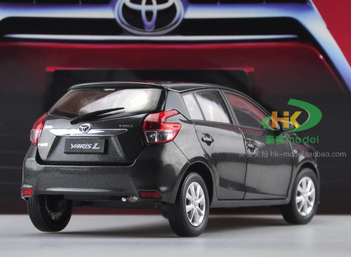 1/18 Dealer Edition Toyota Yaris L / Vios (Black) Diecast Car Model