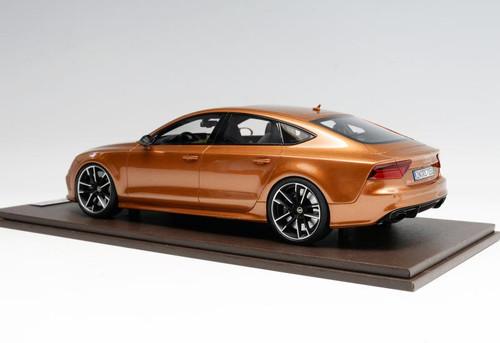 1/18 Motorhelix Audi RS7 (Zanzibar Brown) Resin Car Model Limited 50