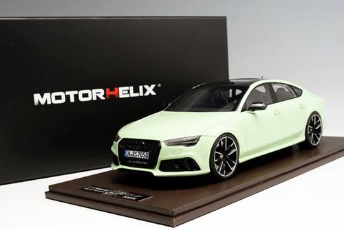 1/18 Motorhelix Audi RS7 (Light Green) Resin Car Model Limited 50