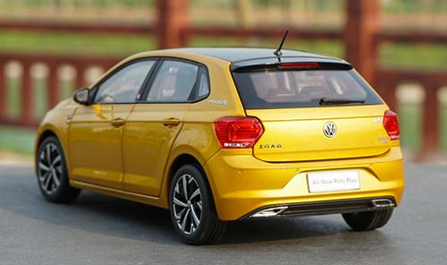 1/18 Dealer Edition Volkswagen VW Polo Plus (Yellow / Gold) Diecast Car Model