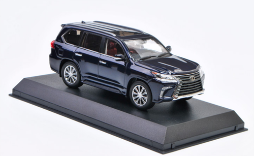 1/43 Dealer Edition Lexus LX LX570 LX 570 (Deep Blue Mica) Diecast Car Model