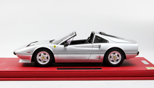 1/18 BBR 1983 Ferrari 208 GTS 208GTS Turbo Spider (Grigio Metallizzato Silver) Resin Car Model Limited