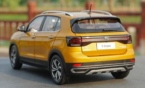 1/18 Dealer Edition Volkswagen VW T-Cross TCross (Gold / Orange) Diecast Car Model