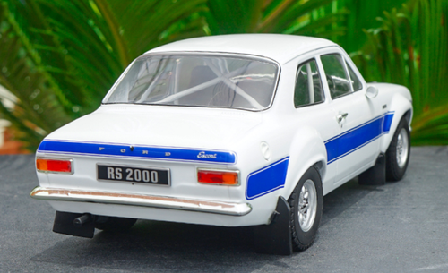 1/18 Triple9 Triple 9 Ford Escort MK1 Road Car (White w/ Blue Stripe) Diecast Car Model