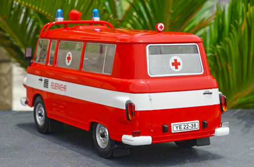 1/18 Model Car Group Barkas B1000 B 1000 Ambulance Feuerwehr Diecast Car Model