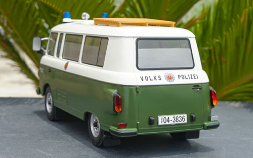 1/18 Model Car Group Barkas B1000 B 1000 Volks Polizei Police Car Diecast Car Model