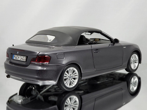 1/18 Kyosho BMW 1 Series 120i 125i Cabriolet Convertible 1st Generation (E81/E82/E87/E88; 2004–2011) (Grey) Diecast Car Model
