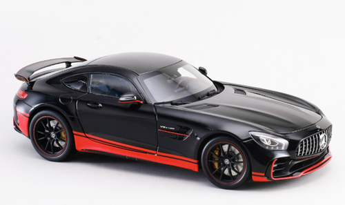 1/18 Almost Real Almostreal Mercedes-Benz Mercedes AMG GTR GT R (Black / Red) Diecast Car Model