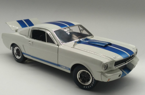 1/18 Dealer Edition 1965 Ford Mustang Shelby GT 350R GT350R (White w/ Blue Stripe) Diecast Car Model