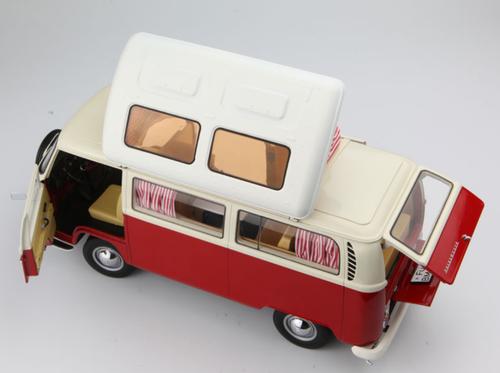 1/18 Schuco Volkswagen VW T2A Campingbus (Red) Diecast Car Model