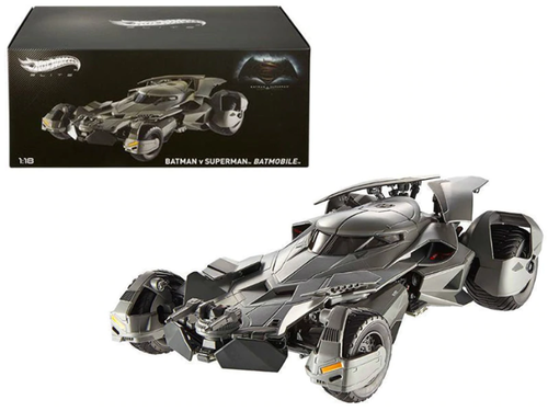 "1/18 Hot Wheels Hotwheels Elite 1995 Batman Forever Batmobile Elite Edition Diecast Car Model & 1/18 Hot Wheels Hotwheels Dawn of Justice Batmobile From ""Batman vs Superman"" Movie Elite Edition Diecast Car Model"